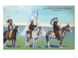 101 Ranch View of Chief Goodboy and Braves - Bliss, OK Prints by  Lantern Press