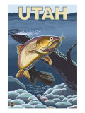 Cutthroat Trout Fishing - Utah Art