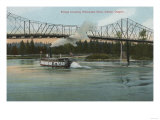 Albany, Oregon - Paddle Boat Crossing Willamette River Prints by  Lantern Press