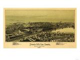 Altoona, Pennsylvania - Panoramic Map Art