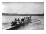 Yale Rowing Crew During Practice Photograph - New Haven, CT Prints by  Lantern Press