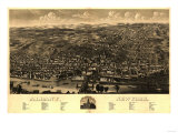 Albany, New York - Panoramic Map Prints