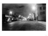 Anchorage, Alaska View of 4th Ave at night Photograph Prints by  Lantern Press