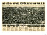 Ansonia, Connecticut - Panoramic Map - Ansonia, CT Prints