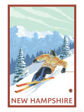 New Hampshire - Downhill Skier Scene Prints