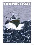 Connecticut - Crab Fishing Boat Scene Prints