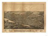 Amsterdam, New York - Panoramic Map Prints