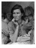 """Migrant Mother"" Pea Picker in California Photograph - Nipomo, CA Prints by  Lantern Press"
