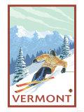 Vermont - Downhill Skier Scene Posters by  Lantern Press