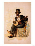 African American in Tux Playing Banjo Theatre Poster Prints