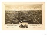 Antwerp, New York - Panoramic Map - Antwerp, NY Prints
