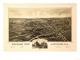 Antwerp, New York - Panoramic Map - Antwerp, NY Prints by  Lantern Press