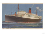View of the Cunard R.M.L. Franconia Cruise Ship Prints