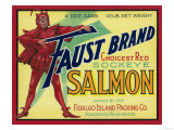 Anacortes, Washington - Faust Salmon Case Label Prints by  Lantern Press
