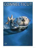 Connecticut - Sea Otter Scene Prints by  Lantern Press
