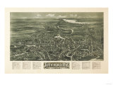 Amesbury, Massachusetts - Panoramic Map Prints by  Lantern Press