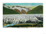 View of Spencer Glacier, Near Seward, Alaska - Spencer Glacier, AK Prints by  Lantern Press