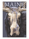 Maine - Moose Up Close Prints