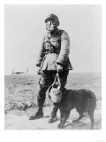 WWI Sergeant and Dog Wearing Gas Masks Photograph Prints