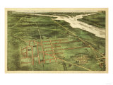 Alexandria, Virginia - Panoramic Map - Alexandria, VA Prints by  Lantern Press