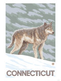 Connecticut - Wolf Scene Prints