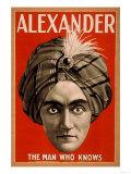 Lantern Press - Alexander the Man who Knows Magic Poster - Reprodüksiyon