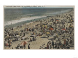 Asbury Park, NJ - Bathing Scene from Boardwalk Prints by  Lantern Press