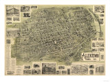 Allentown, Pennsylvania - Panoramic Map Prints by  Lantern Press