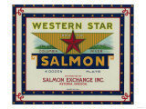 Astoria, Oregon - Western Star Salmon Case Label Prints