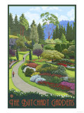 Butchart Gardens - Brentwood Bay, British Columbia, Canada Prints by  Lantern Press