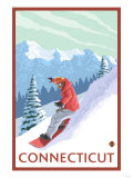 Connecticut - Snowboarder Scene Prints