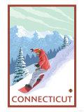 Connecticut - Snowboarder Scene Prints by  Lantern Press