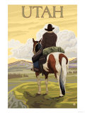 Cowboy - Utah Prints by  Lantern Press