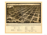 Amarillo, Texas - Panoramic Map Posters by  Lantern Press