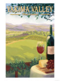 Yakima Valley, Washington - Wine Country Art by  Lantern Press
