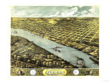 Atchison, Kansas - Panoramic Map Kunstdrucke