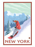 New York - Snowboarder Scene Prints by  Lantern Press