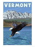 Vermont - Eagle Fishing Prints