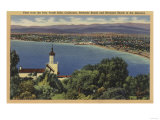 View of Redondo & Hermosa Beaches, California - Palo Verde Hills, CA Print