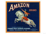 Amazon Orange Label - Pomona, CA Prints by  Lantern Press