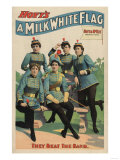 """A Milk White Flag"" Woman's Marching Band Poster Prints by  Lantern Press"