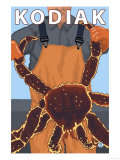 Kodiak, Alaska - Alaskan King Crab Prints by  Lantern Press