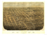 Albion, Michigan - Panoramic Map Prints by  Lantern Press