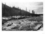 Yukon, Alaska View of Canoeing Whitehorse Rapids Photograph - Yukon, AK Prints by  Lantern Press