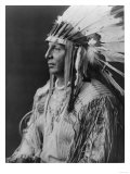 White Shield Arikara Native American Indian Curtis Photograph Art by  Lantern Press