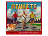 Athlete Brand Citrus Crate Label - Claremont, CA Art by  Lantern Press