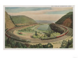 Altoona, Pennsylvania, The Famous Horseshoe Curve Art by  Lantern Press