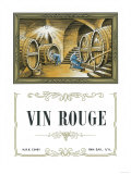 Vin Rouge Wine Label - Europe Art