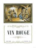 Vin Rouge Wine Label - Europe Art