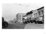 Yakima, Washington Town View Stores Photograph - Yakima, WA Prints by  Lantern Press